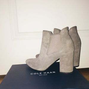 Cole Haan Suede Booties - Only worn once!